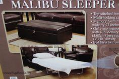 Synergy Malibu Twin Sleeper Ottoman. #Costco #FrugalHotspot