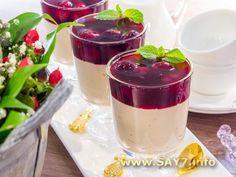 Шоколадное суфле с вишневым соусом