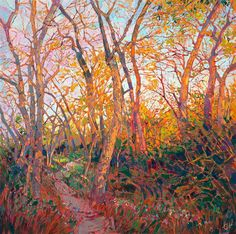 Into the Woods - Modern Impressionism | Contemporary Landscape Oil Paintings for Sale by Erin Hanson
