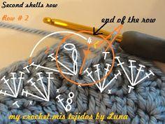 My Crochet , Mis Tejidos by Luna: Baby hat and tutorial / Gorro para bebe y tutorial