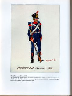 Artillery: Plate 17: Armorers, Private, 1812.