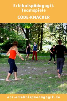 Team game code cracker - Material: note, rope Group: from 10 participants time: approx. 45 minutes The task is to uncover th - John Morrison, Game Codes, Team Games, Sports Activities, Stem Activities, Cognitive Behavioral Therapy, Zara Kids, Outdoor Games, Friends In Love