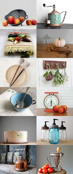 Harvest Table by TomboyGirly on Etsy--Pinned with TreasuryPin.com