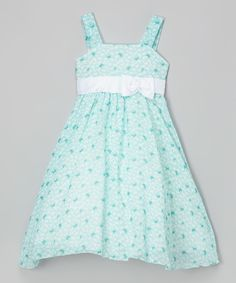Love this Light Blue Butterfly Bow-Sash Dress - Toddler & Girls by Kid Fashion on #zulily! #zulilyfinds