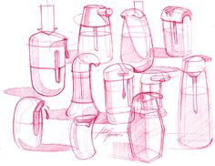 Sketch-A-Day 222: Soap Bottles | Sketch-A-Day | Sketches by Spencer Nugent