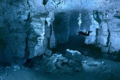 """The Ordinskaya Cave (or """"Orda Cave""""), which lies beneath Russia's Ural Mountains, is the world's largest gypsum crystal cave and one of the world's longest underwater caverns, with many areas still unexplored."""