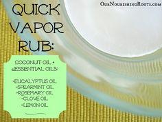 Homemade vapor rub