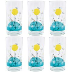 Charley Harper Sunset Glasses Gift Box of 6
