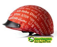 Tortugaz™ New DOT Motorcycle Bike Helmet Cover Skin Protector I Love You ❤
