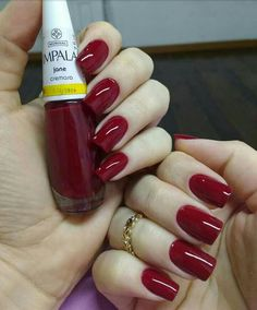 Up To Date With These Great Designs for Red Nails – My hair and beauty Love Nails, Red Nails, Pretty Nails, French Gel, Luxury Nails, Elegant Nails, Classy Nails, Super Nails, Fall Nail Designs