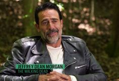 Jeffrey Dean Morgan Walking Dead Set