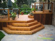 Two Tiered Deck Design Ideas, Pictures, Remodel and Decor