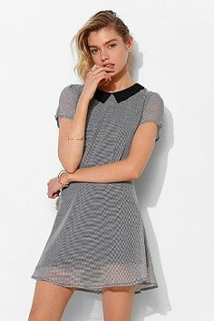 Lucca Couture Gingham Collared Dress
