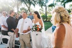 father of the bride walking down the aisle Paradise Cove Orlando