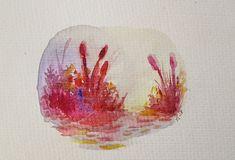 Passion Waiting by Jennloop  #watercolor #painting #emotionalart #water #reds #nature #art #traditionalart