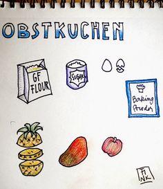Easy and Happy Food: Obstkuchen. Fruit Cake. Torta de frutas.