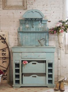 Painted Cottage Chic Shabby White Romantic French Farmhouse Wine Cabinet CC33