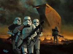 Star Wars - In Search of Droids by Rob Kaz presented by World Wide Art Star Wars Wall Art, The Trooper, Cloud City, Disney Artists, Thomas Kinkade, Giclee Print, Fine Art, Canvas, Gallery