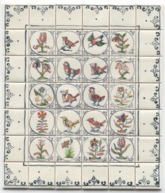Tiny Ceramics, Miniature Tiles for Dollhouses - tiny-ceramics, real ceramic miniature tiles 1:12 scale; terra-cotta or glazed, hand painted, made to measure