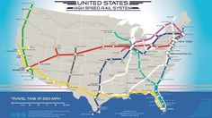 Map Shows Where 220mph Trains Would Go in the U.S.