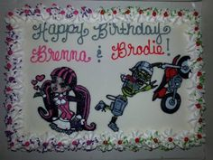 Half Metal Mulisha Maidens and half Metal Mulisha! Birthday cake.
