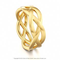 Yellow Gold Ring MAGIC KNOT INFINITY