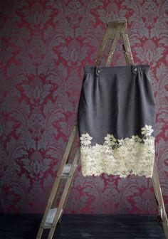 Tuunattu hame SK 10/13 Refashion, Sewing Ideas, Drawstring Backpack, Hair Inspiration, Upcycle, Halloween, Makeup, Skirts, Bags