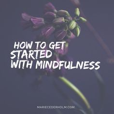 HOW TO GET STARTED WITH MINDFULNESS When starting out with a mindfulness practice it is good to have a formal meditation moment each day. If this is not happening for you right from the start, don't worry! Give yourself some slack and let it slowly integrate into a daily practice. The basics of it is: