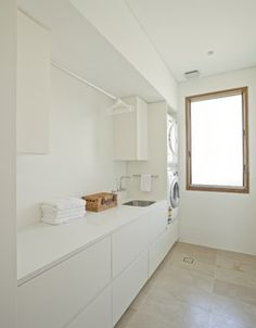 Ideas for laundry renovation - hanging rail above the sink