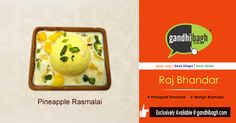 Shop for the Mouth-watering Ras Malai of Raj Bhandar Only At Gandhibagh.com  ‪#‎OnlineShopping‬