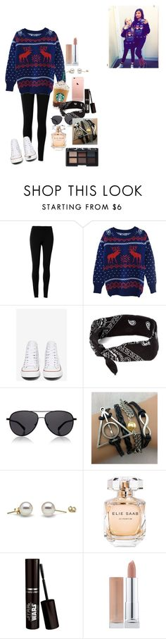 """""""Ugly sweater power.."""" by x-samcat ❤ liked on Polyvore featuring Max Studio, Converse, claire's, The Row, Elie Saab and NARS Cosmetics"""