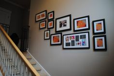 I want to have pictures on the wall going up our stairs