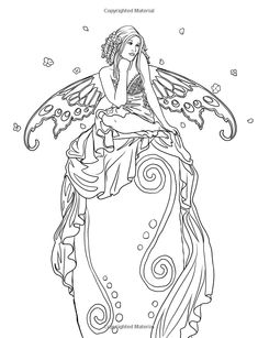 selina fenech coloring pages - Bing images Coloring Pages For Grown Ups, Fairy Coloring Pages, Adult Coloring Book Pages, Coloring Books, Mermaid Coloring, Fairy Art, Painting & Drawing, Fantasy Art, Sketches