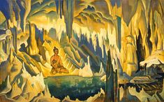 Buddha, 1925 by Nicholas Roerich. Symbolism. religious painting. N. K. Roerich International Centre-Museum, Moscow, Russia