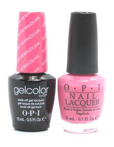 OPI GelColor + Matching Lacquer Kiss Me I'M Brazilian #A68