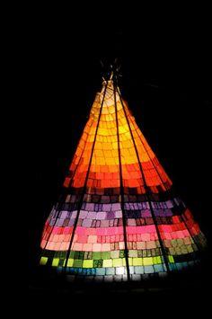 Rainbow tipi | #tipi #glamping @GLAMPTROTTER