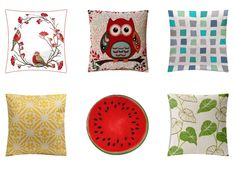 A selection of only cushions