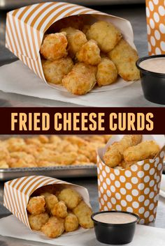 You won't be able to resist these deep fried cheese curds, just like the state fair!