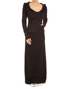 PattyBoutik Cotton Blend Hoodie Kangaroo Pocket Blouson Maxi Dress (Black S) PattyBoutik http://www.amazon.com/dp/B00PQ80YEI/ref=cm_sw_r_pi_dp_cioIvb08B2K24