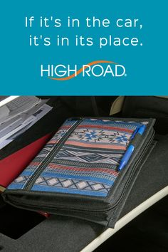Our newest collection of car organizers include a versatile 6 pocket zippered glove box case. See this and more in our Southwest collection at www.highroadorganizers.com