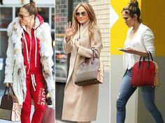 Jennifer Lopez and her Louis Vuitton bag
