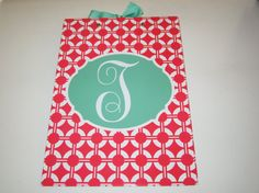 Monogrammed Clipboard by TheInitialGift on Etsy
