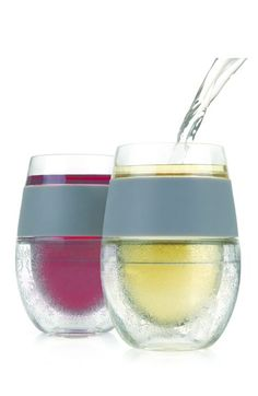 true fabrications 'FREEZE' Cooling Wine Glasses (Set of 2) available at #Nordstrom