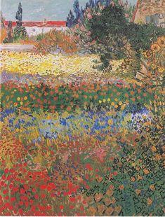Vincent Van Gogh, Flower Garden, Arles, 1888