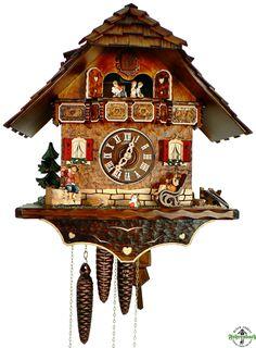 Cuckoo Clock - 8-Day Chalet with Children Playing Music - Schneider