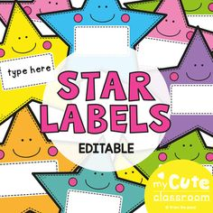 Name Labels for the Classroom - Star Theme {Editable}