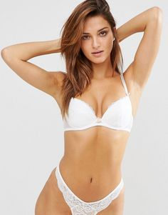 Ann Summers Sexy Lace Plunge Bra - White