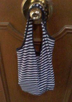 Shirt Into A Bag. No Sew