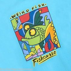 #Weird fish mens t #shirt fishcasso #abstract dark cyan 4xl 5xl picasso,  View more on the LINK: http://www.zeppy.io/product/gb/2/252472486188/