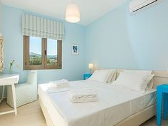 Rethymno villa rental - All three bedrooms of Villa Vasia are located on the first floor!